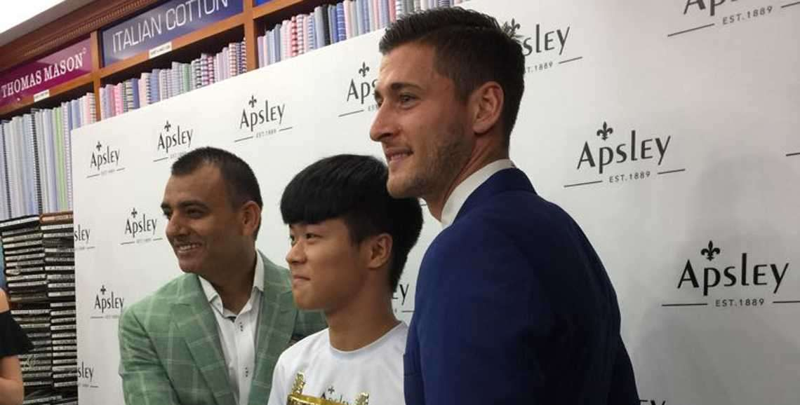 Crystal Palace Football Club players present Apsley Tailor's Hong Kong Footballers of the Future Awards