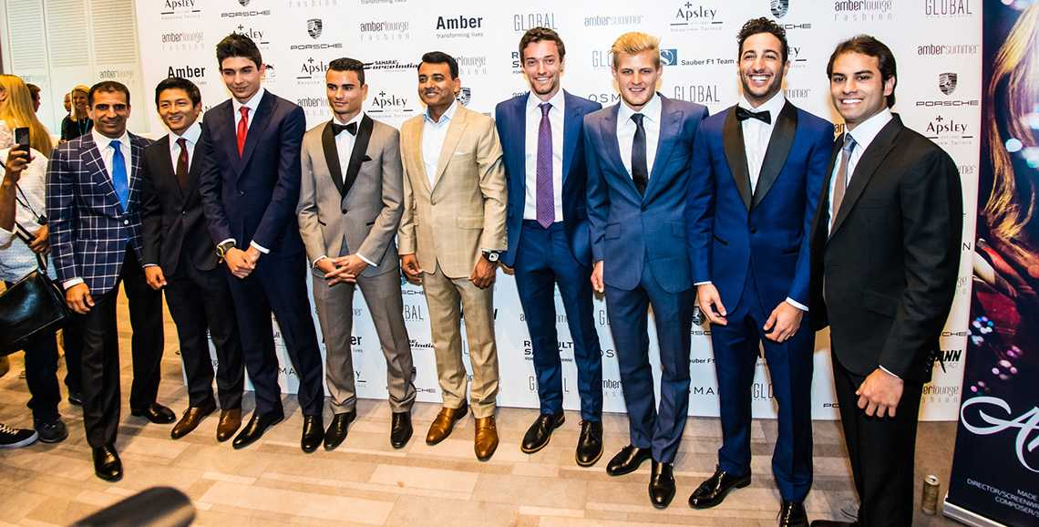 F1 Drivers Dressed By Apsley At Amber Llounge
