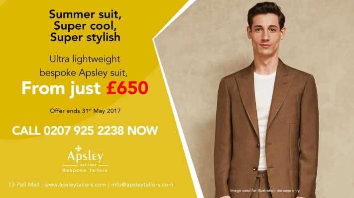 Ultra Lightweight bespoke Apsley Suit