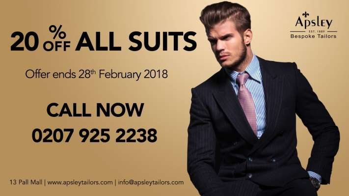 20% Off ALL SUITS