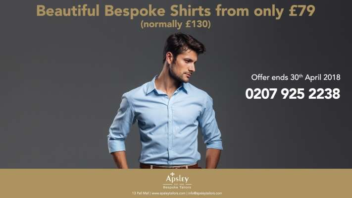 Beautiful Bespoke Shirts from only £79 (normally £130)