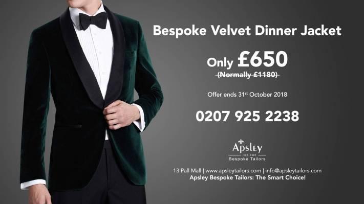 Bespoke Velvet Dinner Jacket