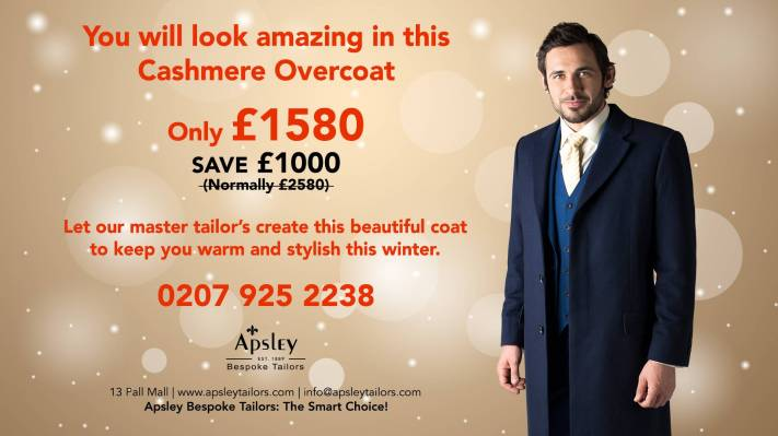 You will look amazing in this Cashmere Overcoat
