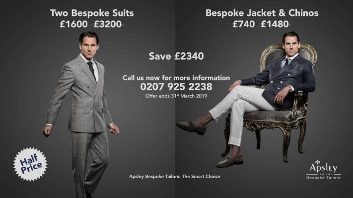 Two Bespoke Suits        Bespoke Jacket & Chinos