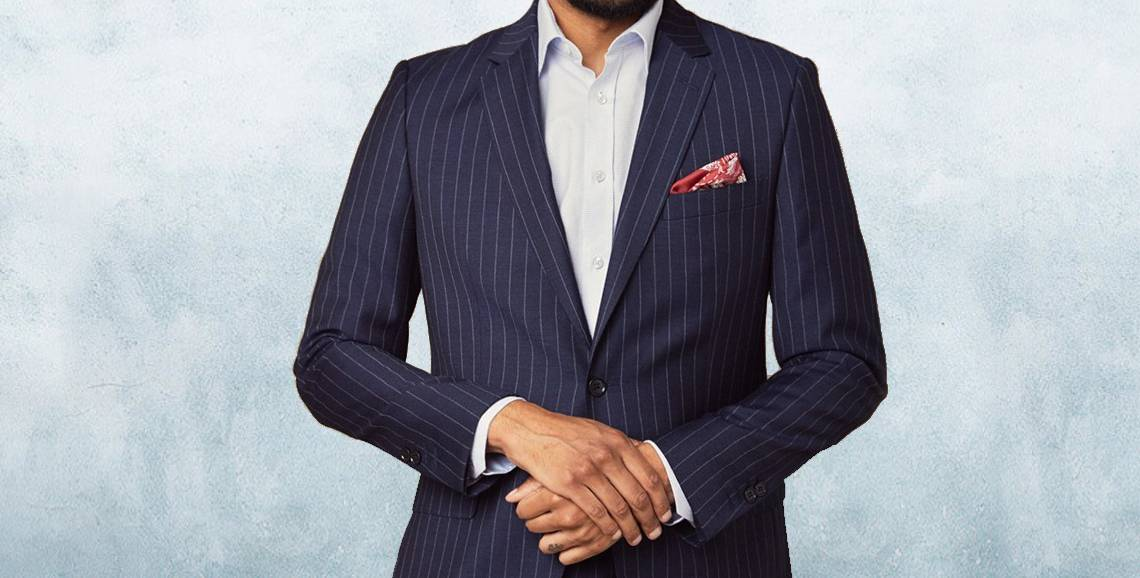 Pinstripe suit is coming back at Apsley Tailors